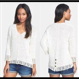 Lucky Brand Issy Mix Stitch Sweater